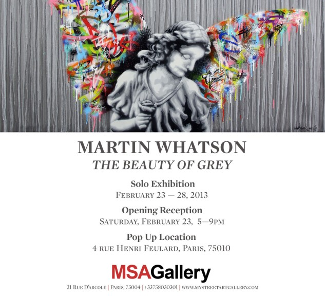 Martin Whatson The Beauty Of Grey MSAGallery Paris February 23rd