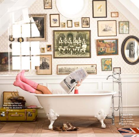 newspaper bathroom