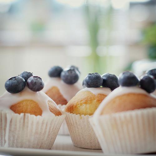 cupcakes blueberry