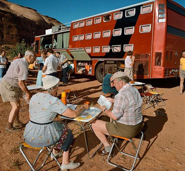 Sleeper-Tour-Bus-at-Goulding-AZ-1980