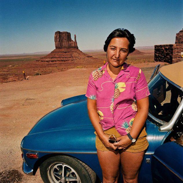 Woman-with-Hawaiian-Shirt-at-Monument-Valley-UT-19801