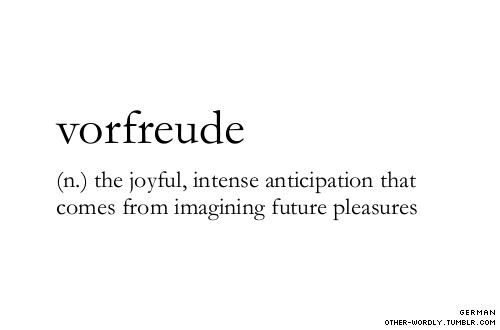 anticipation duture pleasure