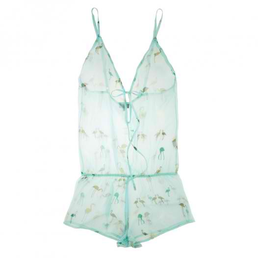 Beautiful Bottoms Flamingo Drop Back Playsuit